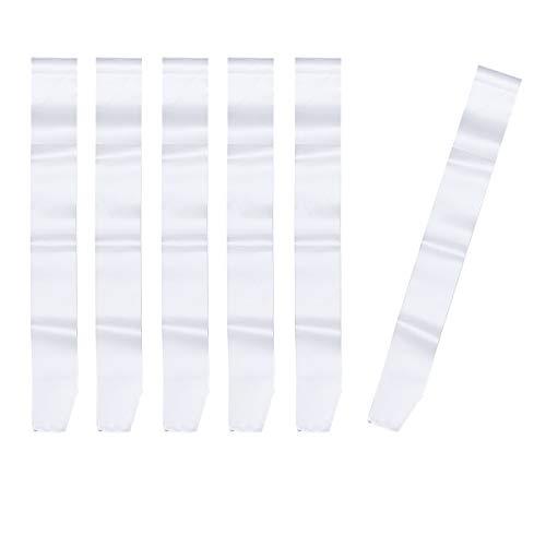 TOYANDONA 6 Piezas Fajines Bandas Blancas de Satén Disfraces para Fiesta Boda Cumpleaños (Blanco)