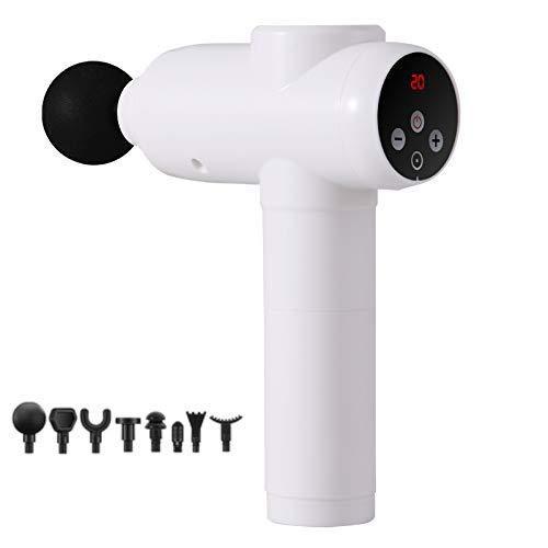 Handheld-Muskelmassagepistole 20 Geschwindigkeiten Elektrisches Handmassagegerät mit 8 Massageköpfen Body Relax Faszienpistole Leistungsstarke Akku-Percussion-Massagepistole