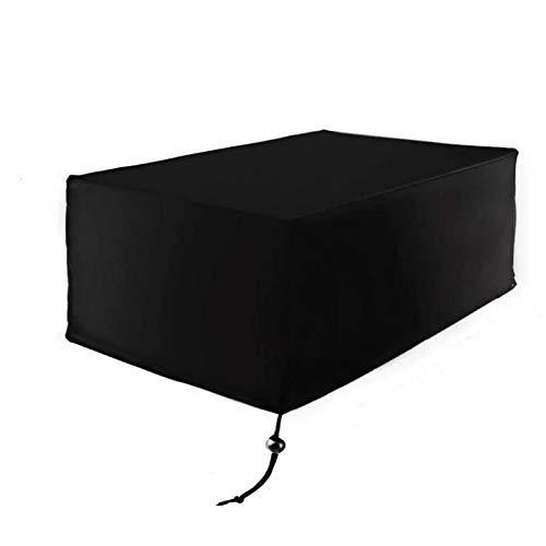 Fablcrew Housse Mobilier de Jardin Extérieur Grande étanche Cube Set de Table Housse de Protection pour Rotin Terrasse des Ensembles Noir (200 * 160 * 70CM)