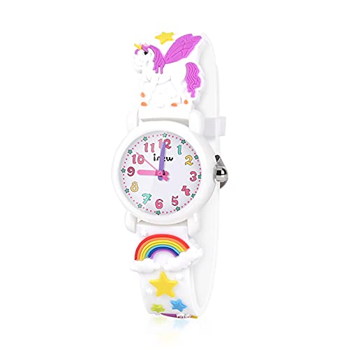 VAPCUFF Toys for 3-8 Year Old Kids, Kids Watch for Girls Age 3-8 Birthday Gifts for 4-8 Year Old Kids Gifts for Back to School Xmas Gifts for Girls Stocking Stuffers for Girls - White
