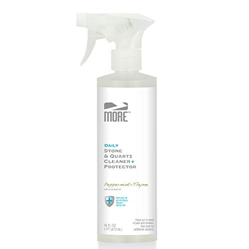 MORE Stone & Quartz All Purpose Cleaning Spray + Protector (Advanced Formula) - Countertop Cleaner for Natural Stone and Tile Surfaces, Household Cleaning [Pint / 16oz]