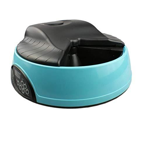 GDDYQ Automatische feeder, 6 maaltijden, kat en hond getimede automatische feeder, ingebouwde microfoon, luidspreker en lage batterij indicator (zonder batterij)