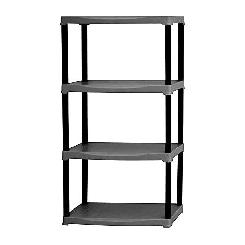 Art Plast Plastic Shelf, Black, Black, T70/4