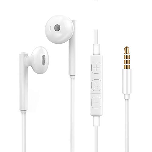 Wired Earbuds Headphones [2 Pack] [2 Pair], 3.5mm Jack Earphones with Microphone&Volume Control for Android Smartphone and All 3.5mm Audio Devices