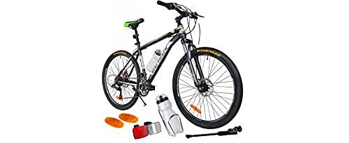 BDW Mountainbike Shimano 18 Gang Schaltung, Scheibenbremse 26 Zoll Reifen | 18 Zoll Rahmen MTB | Additive ! VIELE Farbe (Grün)