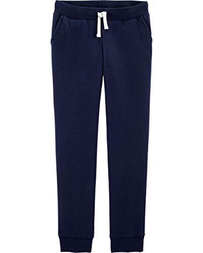 OshKosh B'Gosh Mädchen Logo Fleece Pants Jogginghose, Ny Navy, 6-6X