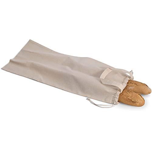 notrash2003 - Bolsa para el Pan de algodón orgánico, con Asas y Cierre de cordón (1er)