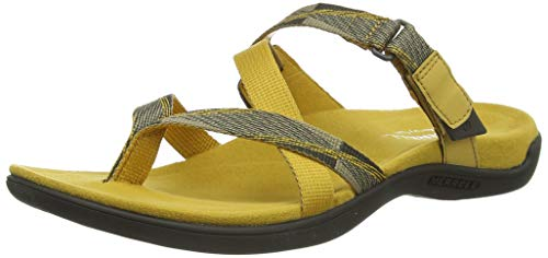 Merrell Damen District Mendi Thong Slingback Sandalen, Gold Gold, 37 EU