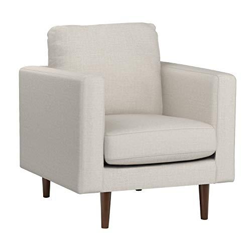 "Amazon Brand – Rivet Revolve Modern Upholstered Armchair with Tapered Legs, 33""W, Linen"