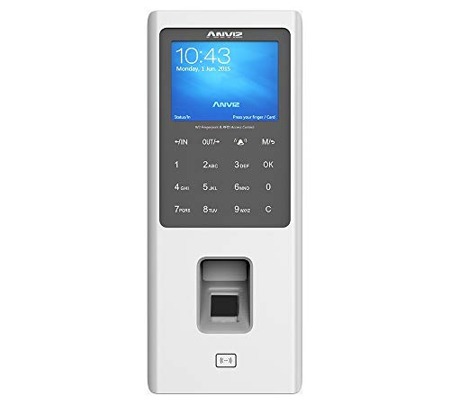ANVIZ W2Control Acceso ncon Lector biométrico, RFID y Código Pin, Gris