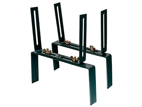 HelpAccess Set di 2 supporti per fioriera senza foratura, supporto per balcone e ganci a forma di H, colore: Verde