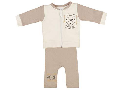 Kleines Kleid Winnie The Pooh 2-Teiler Baby-Set Strampler-Overall, Schlafstrampler, Spieloverall, Ohrenapplikation für Baby Mädchen Jungen Unisex Neutrale Farbe Größe 74