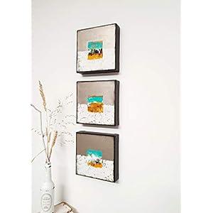 3x 20x20cm Malerei, Acrylmalerei, abstrakt, auf Leinwand, Kunst, Wanddekoration, Malerei, Acrylbilder, Wandskulptur…