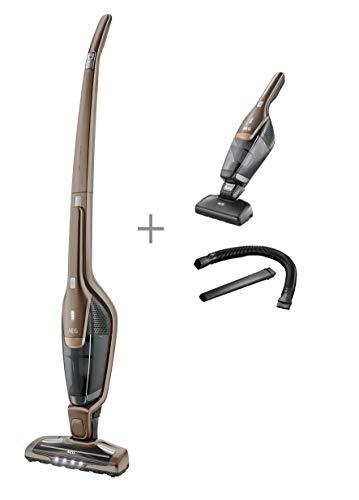AEG CX7-2-B360 Aspiradora Escoba Vertical Sin Cable y de Mano, 18 W, 0.5 litros, 18 Decibelios, 2 Velocidades, Bronce