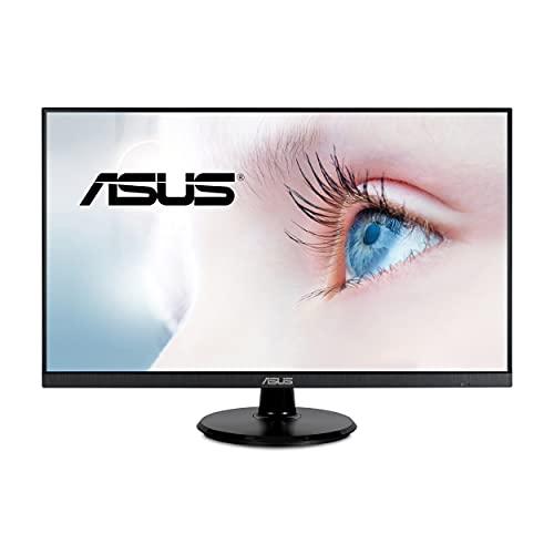 "ASUS 27"" 1080P Monitor (VA27DQ) - Full HD, IPS, 75Hz, Speakers, Adaptive-sync/FreeSync, Low Blue Light, Flicker Free, VESA Mountable, Frameless, HDMI, VGA, DisplayPort, Tilt Adjustable"