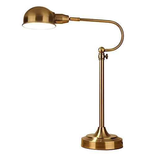 LEGELY Verstelbare retro-bureaulamp E27, intrekbare 70cm hoge legering verchroomd woonkamer slaapkamer tafellamp