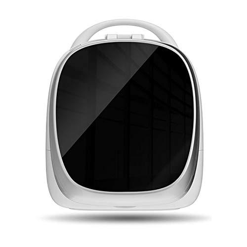 PsgWXL Boîtes de Rangement Cosmetic avec Miroirs à LED Rotatif de 180 Degrés Réglage D'Éclairage Smart Portable pour Salle de Bain WC Chambre Face Pivotant,Noir,Standard Version