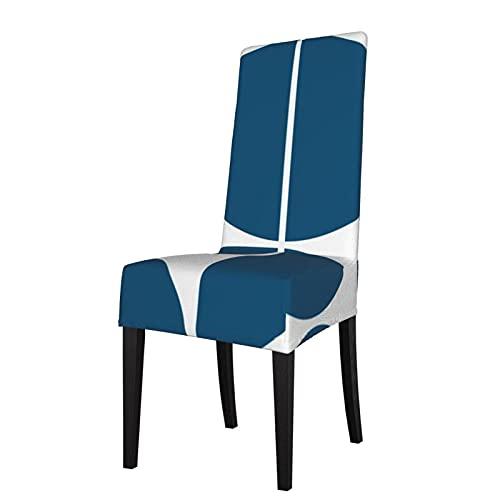 Funda de Asiento para Silla de Mediados de Siglo, Moderno, Azul, Fundas para sillas de Comedor, Fundas elásticas, Protector de Silla Lavable