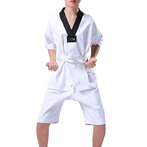 Gtagain Kampfsport Bekleidung Unisex Kinder Erwachsene Dobok Taekwondo Gi Sets - Trend Fashion Judo Anzug Kung Fu Training Wettkampf Uniform Outfit Karate Baumwolle
