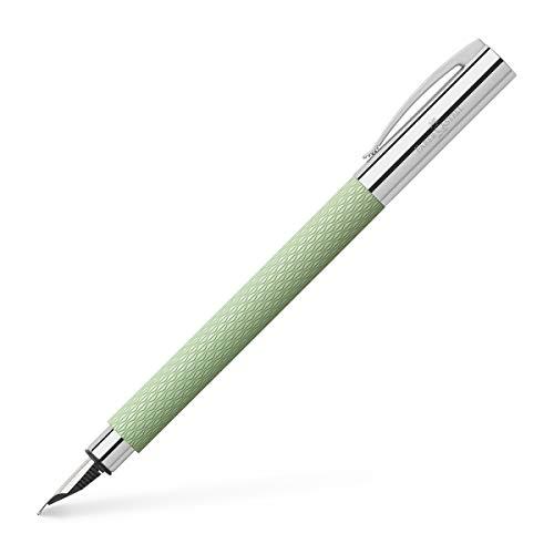 Faber-Castell 147010 - Füller Ambition OpArt, Feder M, mint green, 1 Stück