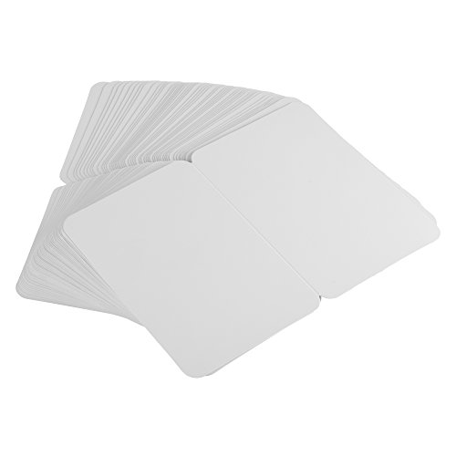 "BCP Pack of 50, 4 x 6"" Kraft Paper Foldable Blank Cards for DIY Greeting Card/Decoration (White)"