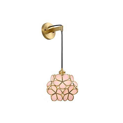 Lámparas de pared Lámpara de pared Lámpara de pared de cobre completa Dormitorio de noche de estilo europeo de la lámpara delantera de espejo simple lámpara de la sala de la lámpara de un sólo recinto