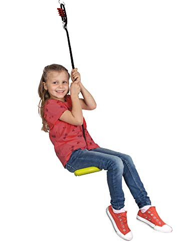 BIG Spielwarenfabrik 800056744 - BIG Activity Swing, 3-in-1 Multifunktions- verstellbare Kinder-Schaukel, ab 5 Jahren - 3
