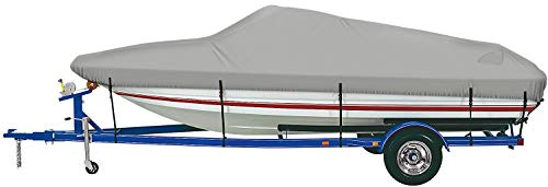 """iCOVER Heavy Duty Waterproof Boat Cover, Fits V-Hull,Fish&Ski,Pro-Style,Fishing Boat,Runabout,Bass Boat, up to 14ft-16ft Long X 90"""" Wide"""