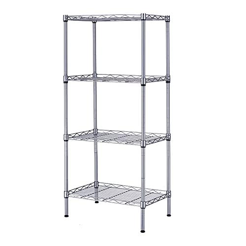 """SINGAYE 4 Tier Shelf Adjustable Storage Shelf 350LBS Load Capacity Metal Storage Rack 17.32""""L X 11.41""""W X43.3"""" H"""