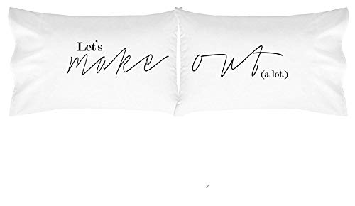 Oh, Susannah Lets Make Out Pillow Cases His and Hers Pillowcases for Couples Wedding (Two 20x30 Inch, Standard/Queen Size) Girlfriend Gifts