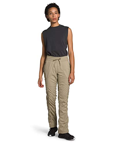 The North Face Women's Aphrodite 2.0 Pant, Twill Beige, Medium Long