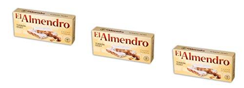 El Almendro - Pacchetto include 3 Turrón Duro, Torrone di mandrole duro - Qualità suprema - 200gr (Senza Gluten)