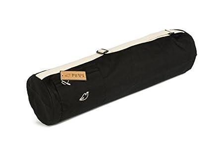 Blue Dove Yoga Cochin Yoga Mat Bolsa de algodón orgánico, negro
