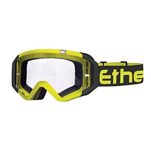 ETHEN Gafas / Máscara de Ciclismo, Motocross y Enduro, Lente Antivaho Cilíndrica...