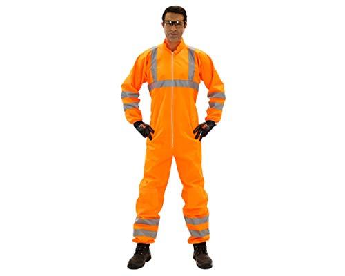 Honeywell Einweg Chemikalienschutzanzug Nehon 5+ HiViz, Orange mit Warnschutz, VE 20 Stk. ohne Kapuze, EN388 (3121)En374(Jkl), Kategorie 3: Chemikalienschutz, Typen 5 und 6, Hohe Sichtbarkeit Gr. XXXL