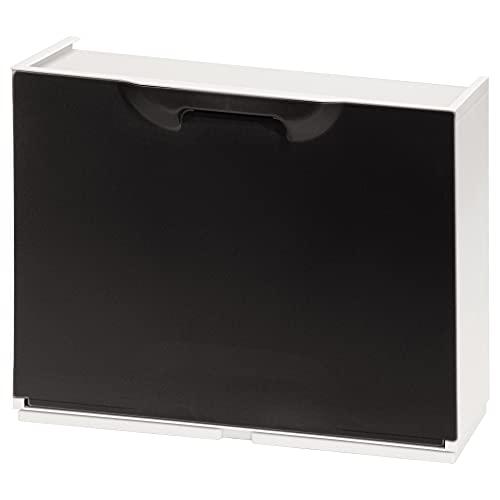 Art Plast 21030375 ORYX Zapatero Resina 51x17x41cm. Blanco y Negro, Polipropileno, 51x17.3x40.1 cm
