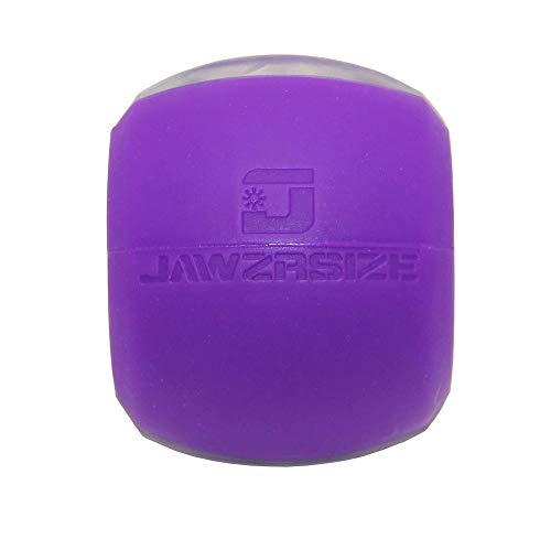Jawzrsize Jaw, Face, and Neck Exerciser - Define Your Jawline, Slim and Tone Your Face, Look Younger and Healthier - Helps Reduce Stress and Cravings - Facial Exerciser (Level 3 - Advance) (Small, Purple)