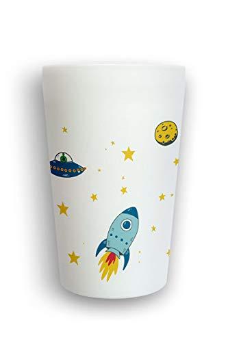 heybico bruchfester Kinder-Trink-Becher hergestellt im Schwarzwald aus natürlichen Rohstoffen   Frei von Schadstoffen, BPA frei   400ml (Space)