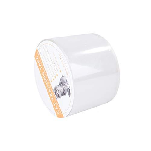 NINIWA 1 cinta de entrenamiento para gatos antiarañazos, cinta adhesiva para proteger muebles, sofá, puerta, alfombra (2.5 pulgadas)