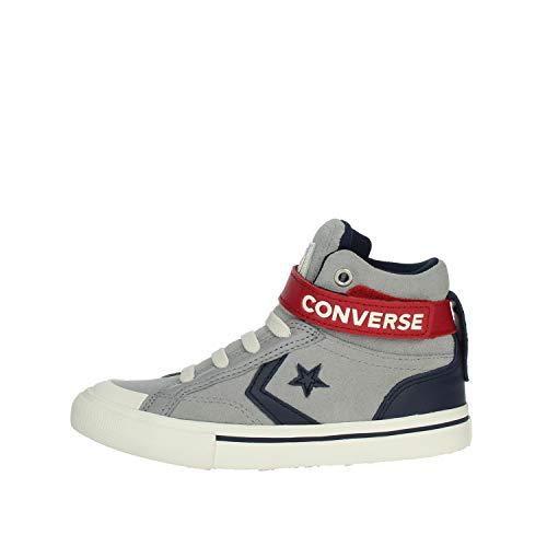 Converse 665838C PRO Blaze Strap HI Delphin/Obsidian Grau Mitte Babyschuhe reißelastisch 38