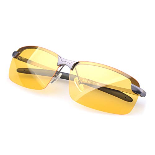 HD Night Vision Glasses for Driving Anti Glare Polarized Glasses New UV400 Eyewear, Safety Glasses, TAC Polarized, Clarity Lenses, Best for Men & Women Driving Protection