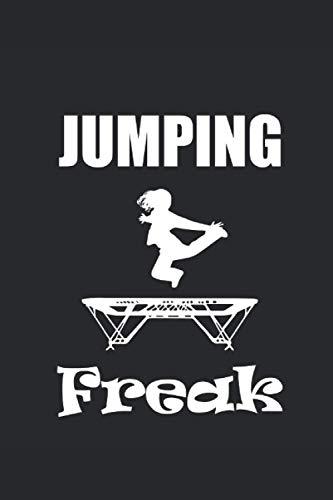 JUMPING FREAK: Notizbuch Trampolin Journal Akrobat Notizheft 6x9 kariert