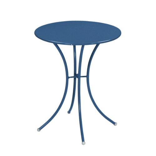 Emu 309056100 Pigalle Tisch 905, ø 60 cm, pulverbeschichteter Stahl, petrolblau