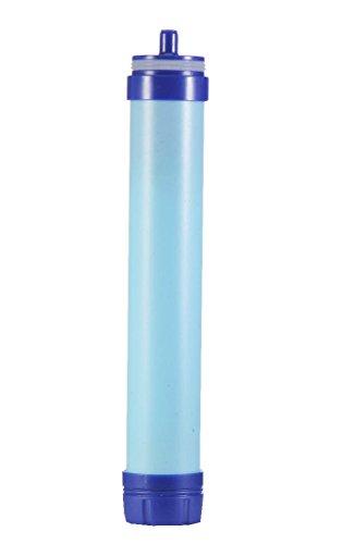 Qunlei Wasserfilter, 2-stufiger integrierter persönlicher Filter-Strohhalm für Wandern, Camping und Reisen – Überlebens- oder Notfallfilter – BPA-freie Wasserflasche