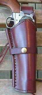Left Handed Burgundy Smooth Leather Single Western SASS...