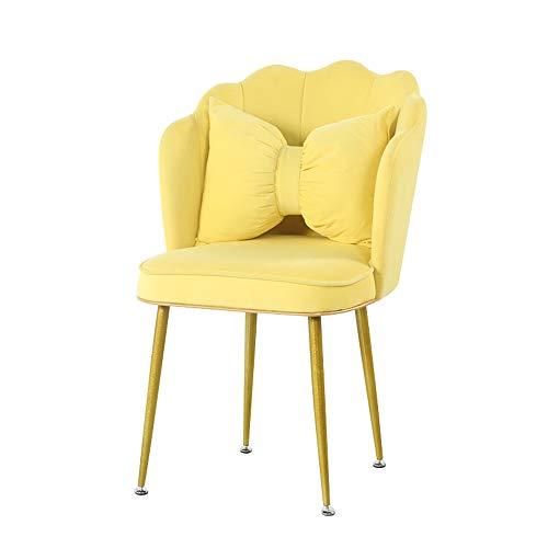 Dining chair Esszimmerstuhl im europäischen Stil Hauptschlafzimmer Ankleidestuhl Rückenlehnenstuhl Tuchgewebe Western Restaurant Stuhl Coffee Shop Stuhl 63 * 48 * 81 cm