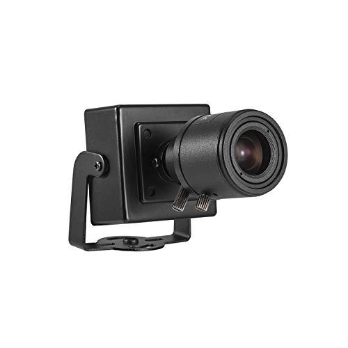 HD Zoom POE Mini IP Kamera Überwachung - Revotech® - H.265 3MP 2MP 1080P Innen Home Sicherheit Kamera 6-22mm Manuelles Zoom Linse ONVIF P2P Mental CCTV Kamera System (I712-2-P Schwarz)
