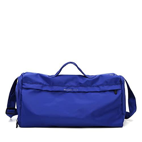 MilkyWay Bolsa de deporte para gimnasio, color rosa, bolsa de viaje para hombres y mujeres, bolsa deportiva ligera con compartimento para zapatos y bolsillo húmedo (azul)