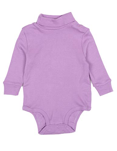 Leveret Solid'Turtleneck Bodysuit' (18 Months, Purple)