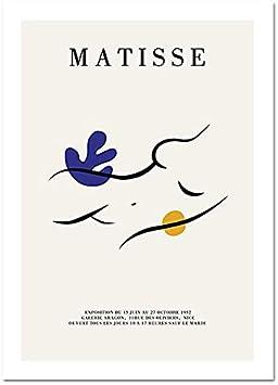 Matisse, silueta abstracta moderna, cartel de línea corporal, cuadro artístico de pared, impresiones nórdicas, decoración del hogar, lienzo sin marco, pintura A2 60x80cm